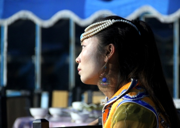 Small mongolian girl