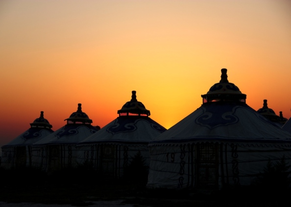 Small yurts sunset1