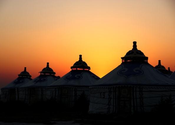 Small yurts sunset1