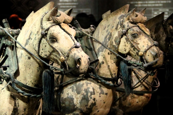 Terracotta Warriors Horses close crop