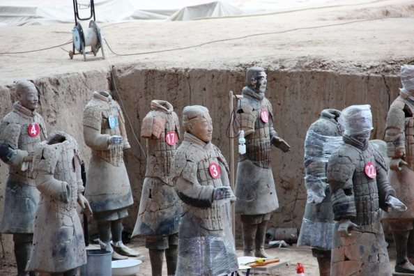 Terracotta Warriors Under Repair
