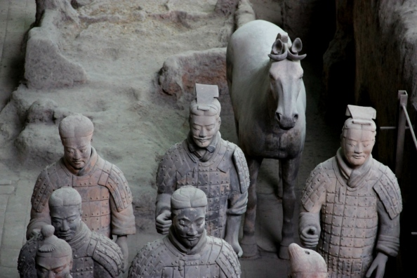 Terracotta Warriors with horses